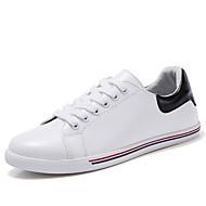 נשים-נעלי ספורט-דמוי עור-מגפי אופנה-שחור / לבן-משרד ועבודה / קז'ואל-עקב שטוח