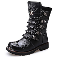 Men's Boots Spring/Fall / Winter Cowboy / Western Boots / Combat Boots Synthetic Outdoor / Casual Black