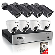 ZOSI®8CH 720P HDMI DVR Built-in 1TB HDD 8PCS 1.0MP Security Camera System Kit