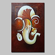 Hand Painted Modern Abstract Elephant Animal Oil Painting On Canvas Wall Art For Home Decoration Ready To Hang