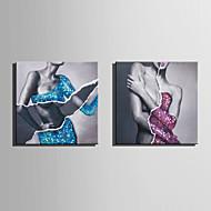 Ручная роспись Телесный / Абстрактные портреты Картины маслом,Modern / Европейский стиль 1 панель Холст Hang-роспись маслом For Украшение