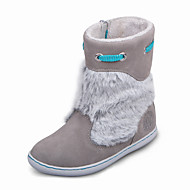 Girl's Boots Fall / Winter Others / Comfort Suede / Fur Casual Flat Heel Zipper Gray Others