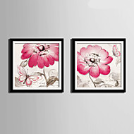 Kwiatowy/Roślinny / Zvířecí motivy Oprawione płótno / Zestaw w oprawie Wall Art,PVC (polichlorek winylu) Materiał Czarny Zawiera podkładkę