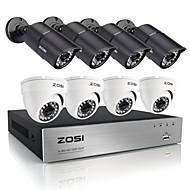 zosi®hd 8pcs DVR 8ch 720p HDMI 1.0mp ערכת מערכת מצלמת אבטחה