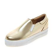 נשים-נעליים ללא שרוכים-דמוי עור-נוחות-ורוד / כסוף / זהב-חתונה / משרד ועבודה / שמלה / קז'ואל-עקב שטוח