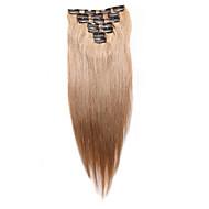 7 pcs / set grampo em extensões do cabelo morango 14inch 18inch 100% cabelo humano loiro para as mulheres