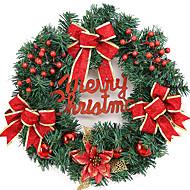 Jul krans 2 farver fyrrenåle juledekoration til 40cm homeparty diameter navidad nytår forsyninger