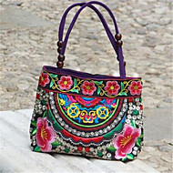 Women Canvas Casual Outdoor Shoulder Bag Purple Red Blue