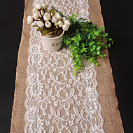 Rectangular Embroidered Table Runner , Linen / Rayon Material Wedding Party Decoration Weddings