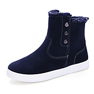 Men's Boots Spring / Fall / Winter Comfort Suede Outdoor / Athletic / Casual Flat Heel Button Black / Blue / Tan Walking