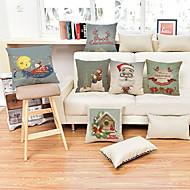 1 ks Bavlna Povlak na polštář,Prázdninový Zvýraznění / dekorace