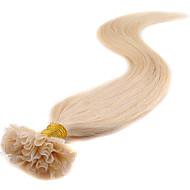 u tip prodlužování vlasů lidských 40g- 50g u-tip Remy lidský prodlužování vlasů 100 pramenů keratin hřebík tip vlasy 0,5 g / Strand