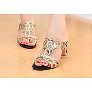 Sandaalit-Leveä korko-Naiset-Glitter PU--Rento-Slingback