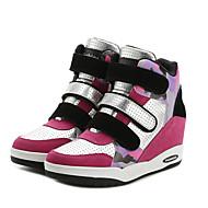 Dame-Tekstil-Flat hæl-Komfort-Treningssko-Fritid-Svart Rød Sølv