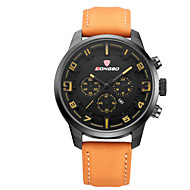 LONGBO Men's Leather Band Water Resistant Analog Quartz Dress Watch (with Jewelry Box)