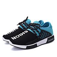 Men's Athletic Shoes Spring / Fall Comfort Fabric Casual Flat Heel  Black / Blue / Red Sneaker
