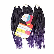 Senegal twist Braids Hair Extensions 12Inch Kanelkalon 81 Strands Strand 125g gram Hår Braids