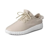 Women's Sneakers Spring / Summer / Fall / Winter Comfort Leather Casual Flat Heel Split Joint / Lace-up