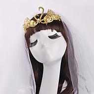 Typical Golden Swan Baroque Bride Crown Hair-dress