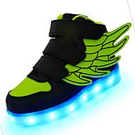 Para Meninos-Tênis-Conforto Light Up Shoes-Salto Baixo-Preto Azul Rosa Vermelho Branco Verde Claro-Couro-Ar-Livre Casual Para Esporte