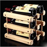 Viinitelineet Puu,32.5*26*29CM viini Lisätarvikkeet