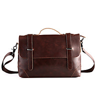 Men PU Casual / Office & Career Shoulder Bag Brown
