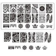 Lace Printing Nail Art Stamping Decor DIY Manicure Stamping Plates for Nails Templates Salon Tools BC03