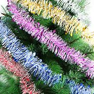 な長さ2メートルのクリスマスリボンn 2mのウールトップス花輪クリスマスツリーの装飾リボンの暗号化