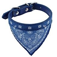 Chat Chien Colliers Cosplay Doux Bandanas Mains libres Pour tous les jours Solide Rouge Noir Bleu Tissu Cuir PU