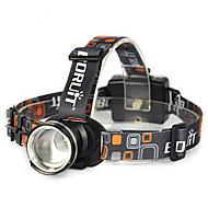 תאורה פנסי ראש / רצועות פנס / אורות בטיחות LED 10000 Lumens 1 מצב Cree XM-L T6 18650 ראש הזווית / קל במיוחדמחנאות/צעידות/טיולי מערות /