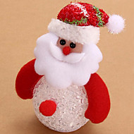 שלג יפה מנורת לילה סנטה קלאוס הוביל אור לילה בובת שולחן עץ חג מולד תליון שולחן תפאורת מנורה המאירה לילדים (בסגנון אקראי)