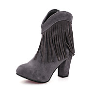 Women's Boots Fall / Winter Others Leatherette Dress Chunky Heel Tassel Black / Yellow / Red / Gray Others