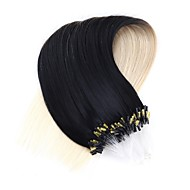 neitsi 20''50strands 1g / s micro ring loop links hår extensions 100% remy menneskehår t1-60 #