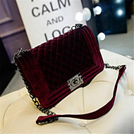 Women PU Casual Outdoor Shoulder Bag Black Purple Red