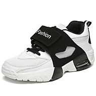 Women's Athletic Shoes Spring Summer Fall Winter Comfort Synthetic Casual Chunky Heel Magic Tape Black Red White