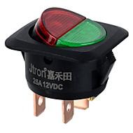 jtron dc 12v 25a piros zöld led on-off gomb autó kapcsoló -fekete