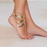 vrouw gouden legering karabijn enkelbandje