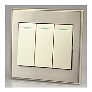 86 væg skifte panel tre single-panel switch
