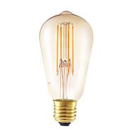 5w e27 led-hehkulamppuja st58lf 4 koukku 350 lm keltainen himmennettävä / koriste-ak 220-240 v 1 kpl