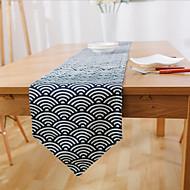 Rectangulaire Avec motifs / Fleur / Nautique Chemins de table , Lin Matériel Hôtel Dining Table / Tableau Dceoration