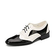 Customizable Men's Dance Shoes Leather  Modern Flats Low Heel Outdoor / Performance Black