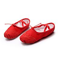 Kan ikke spesialtilpasses-Dame-Dansesko-Ballett-Stoff-Flat hæl-Svart / Rosa / Rød