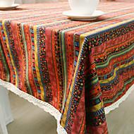 Obdélníkový Proužky Se vzorem Ubrusy , Směs bavlny Materiál Hotel Jídelní stůl Tabulka Dceoration
