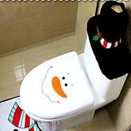 טואלט קישוטי חג מולד קבוצה של אסלת שלושת חלקים מקוריים חג מולד השלג עם