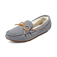 Women's Loafers & Slip-Ons Spring Fall Winter Comfort Leatherette Office & Career Casual Flat Heel Black Blue Red Gray Burgundy Coffee