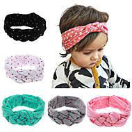 5 шт / комплект для детей тюрбан повязки с горохом напечатаны аксессуары для волос ребенка