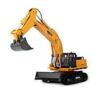 Excavator RC Car 2.4G Yellow Ready-To-Go Remote Control Car Remote Controller/Transmitter Battery Charger Battery For Car