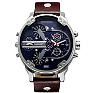 Men's Sport Watch / Military Watch / Dress Watch / Fashion Watch / Wrist watch Quartz Calendar / Dual Time Zones / Large Dial / Punk