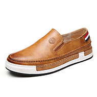 Men's Loafers & Slip-Ons Fall / Winter Others Leatherette Outdoor / Office & Career / Casual Flat Heel OthersBlack / Brown / Yellow /