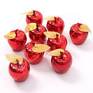 9pce Juhlien hedelmät riipus joulu roikkuu koristeena punainen kultainen omena joulukuusen koristeet